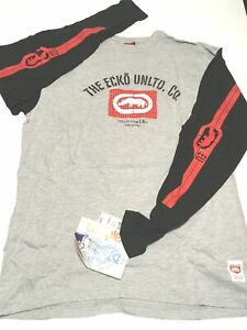 ECKO-UNLTD-L-S-034-101-034-Men-039-s-sz-L-Large-Graphic-T-Shirt-Athletic-Grey-OOP-NEW-NWT
