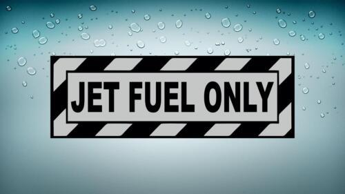 Autocollant sticker macbook voiture avion aviation aeroport jet fuel only noir