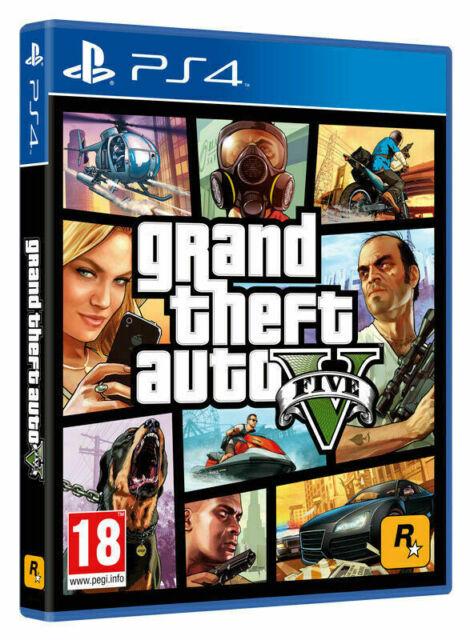 PS4 VIDEOGIOCO GTA 5 CD PREMIUM EDITION GRAND THEFT AUTO PLAYSTATION 4 GTA V