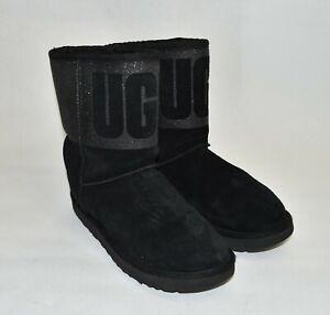 Ugg Classic Short Sparkle Boot Black