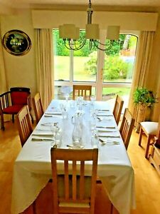 Oak Dining Table With 8 Chairs Solid Oak Purchased From Daniels Windsor Ebay