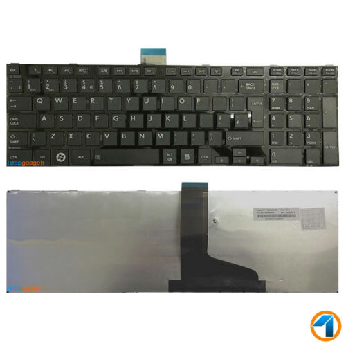 NEW P850-12X P850-12Z TOSHIBA SATELLITE UK Keyboard Black Gloss Frame