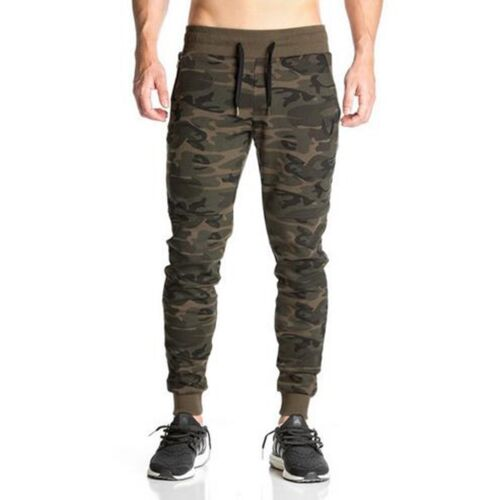 Casual Men Gym Pants Camouflage Jogger Skinny Baggy Sweatpants Slim Fit Trousers