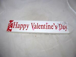 VTG-Valentine-Card-Letter-Wall-Party-Decor-Box-Sign-Valentine-039-s-Day-Table-Sitter