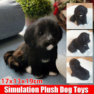 Realistic-Black-Dog-Puppy-Pet-Plush-Simulation-Stuffed-Animal-Cuddly-Doll-Toy