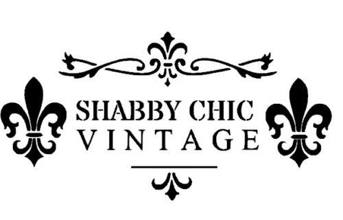 Shabby Chic Vintage stencil pochoir ornement meuble mur TEXTILE RIDEAUX a3