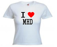 T-shirt I Love Mhd Chanteur Rappeur Taille De Xs A L Femme