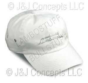 Hat Ladies White Strass
