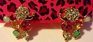 BETSEY-JOHNSON-MULTI-COLOR-POODLE-DOG-ENAMEL-CRYSTAL-EARRINGS-NWT