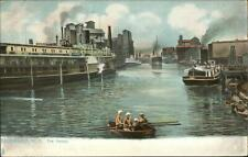 Buffalo NY The Harbor RAPHAEL TUCK Boats Ships c1910 Postcard