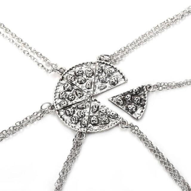 1x Slices Pizza Friendship Necklaces Best Friends Jewelry Pendant charms WWE