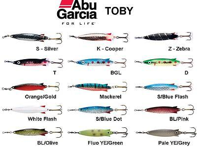 ABU GARCIA TOBY - Fishing Lure Spoon - All Colours & Sizes 7-60g