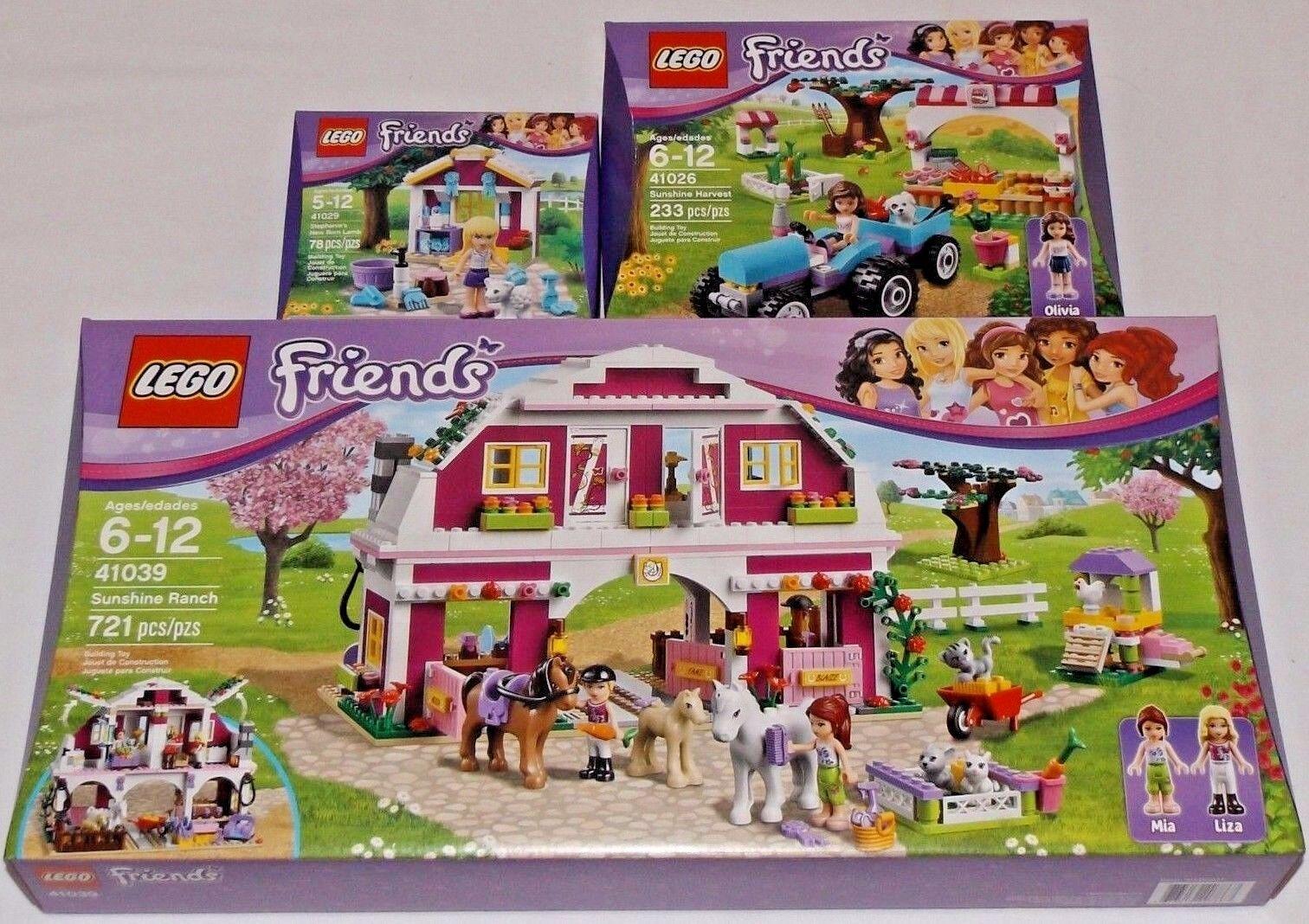 Lego Friends El Sol Rancho cosecha Stephanie's Cordero Recién Nacido 41039 41026 41029