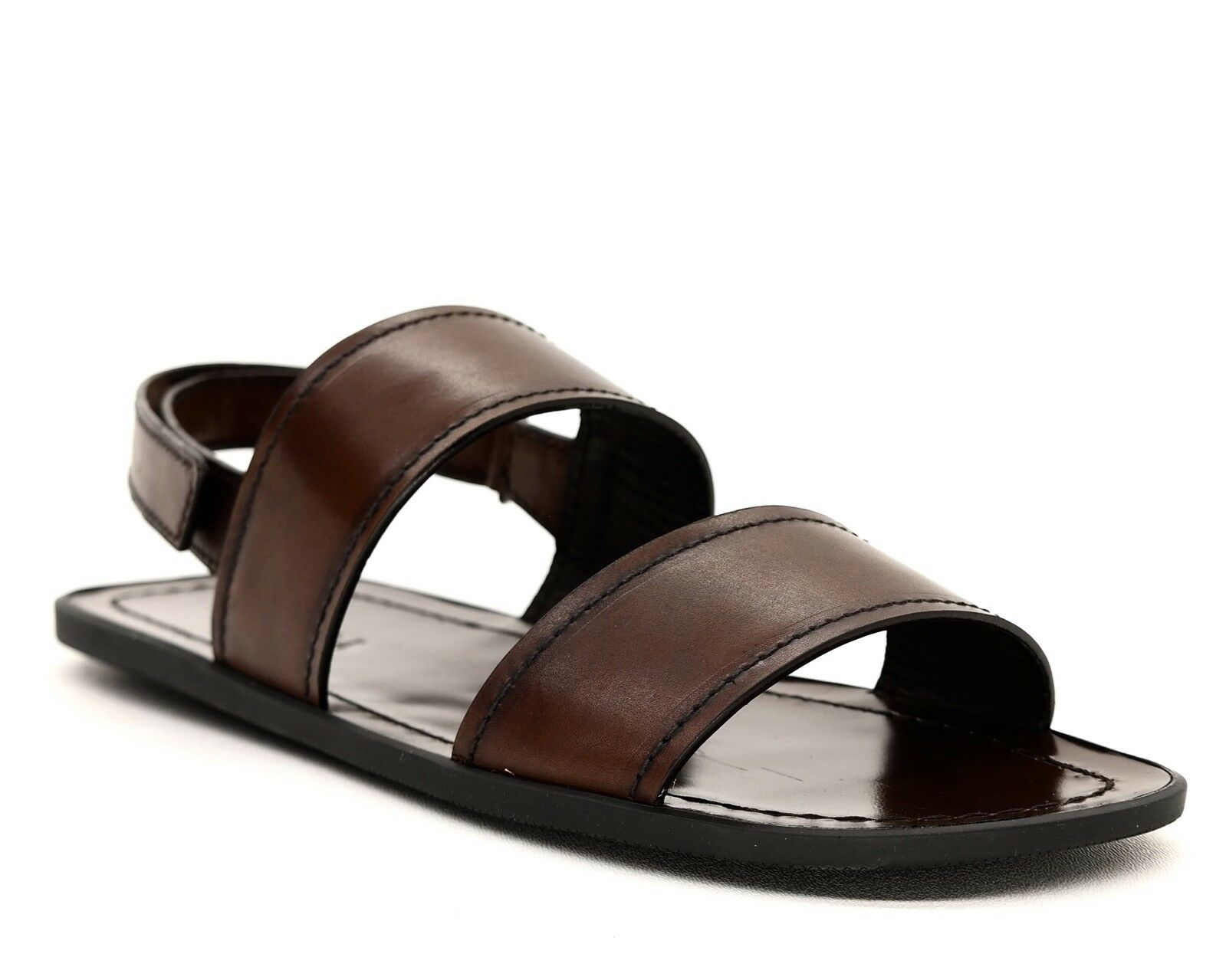 Prada Sandals Brown Pelle Straps Size 8.5 NIB
