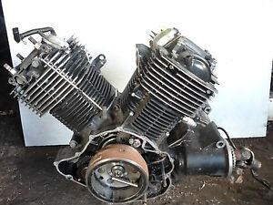 Yamaha 02 v star 100 xvs1100 classic engine motor trans for 2004 yamaha v star 1100 classic parts