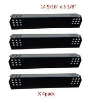 Porcelain Steel Heat Plates 4-pack Gas Bbq Parts Shield For Grillmaster Uberhaus
