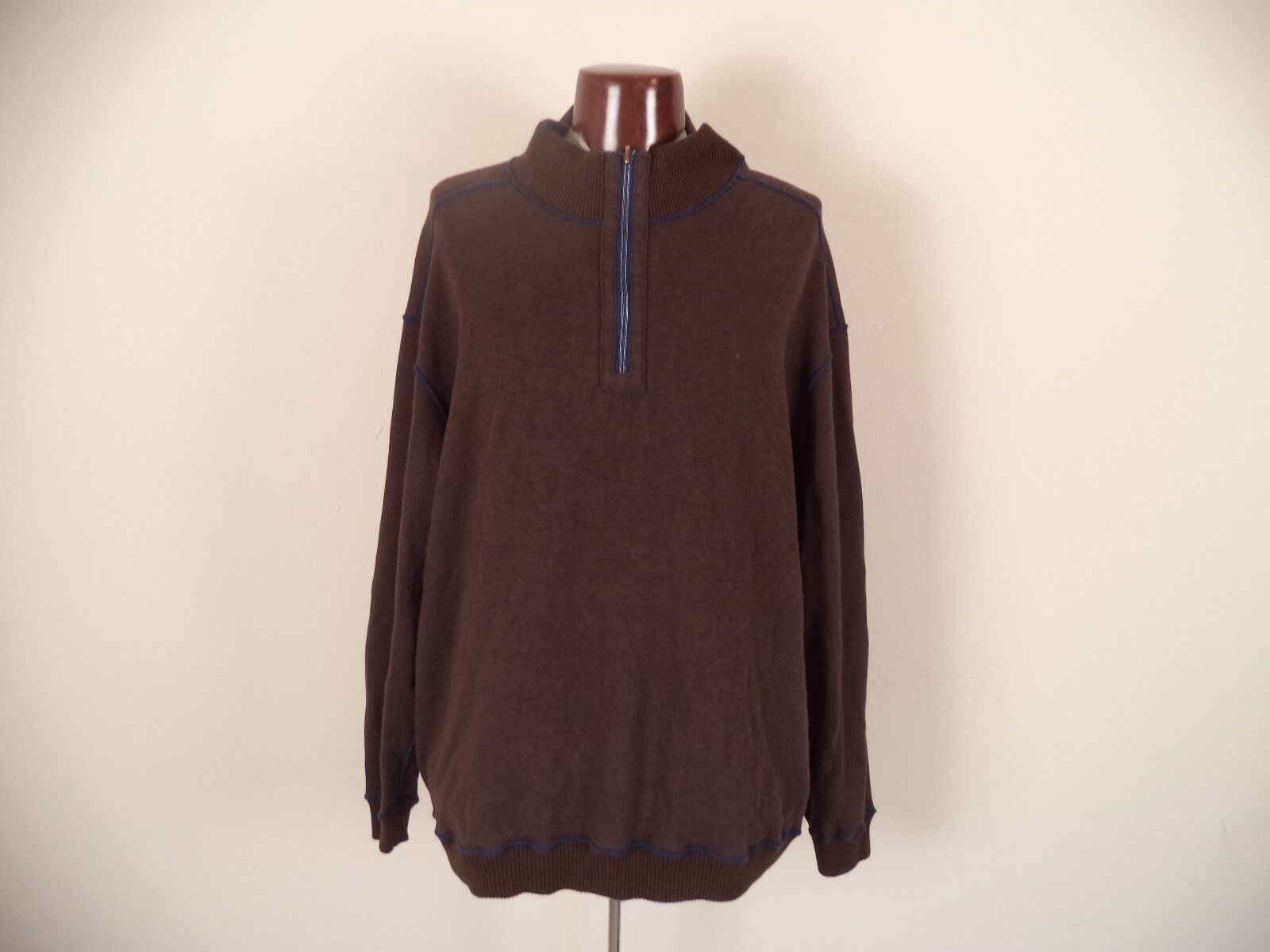 Men's Unbranded Reversible Sweater. Brown and bluee. Long Sleeve. Big & Tall.