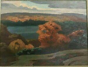 034-Lake-Muskoka-034-Original-Oil-Painting-by-Canadian-Artist-George-Thomson-b-1868