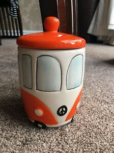New Lovely Cookie Jar Novelty Campervan Biscuit Jar Ideal