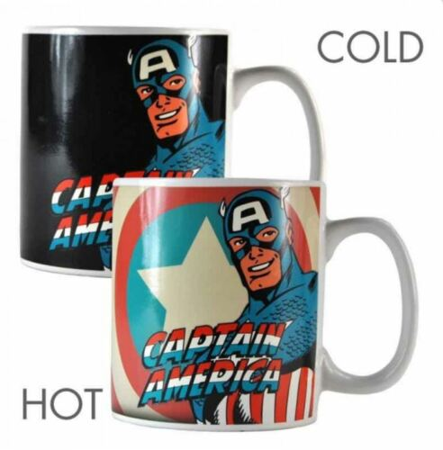 MARVEL CAPTAIN AMERICA HEAT CHANGING MAGIC MUG COFFEE CUP NEW AND GIFT BOX
