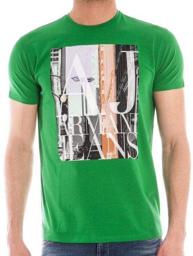 Armani Jeans Herren Grün H/S T-Shirt - Sz XXL & XXXL BNWT 100