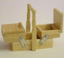 Pine Sewing Box By Heidi Ott, Doll House Miniatures