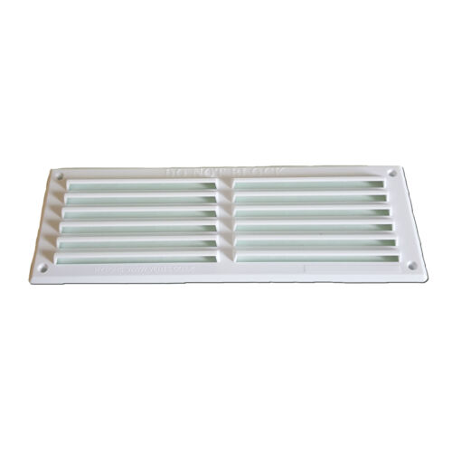 "9 X 3"" White Plastic Louvre Air Vent Grille Cover For"