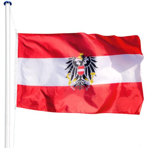 Mástil para bandera 6,25 m con bandera de y cuerda palo aluminio varios modelos
