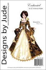 """Enchanted Doll Clothes Sewing Pattern for 22"""" American Model Tonner"""