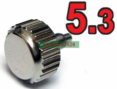 5.3mm Stainless Steel Screw Crown Tube For ETA 2824 2836 Movements 3 Sets