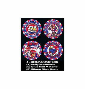 4-x-ROOSTERS-SYDNEY-FOOTBALL-RUGBY-LEAGUE-AUSSIE-RULES-SOCCER-DRINK-COASTERS