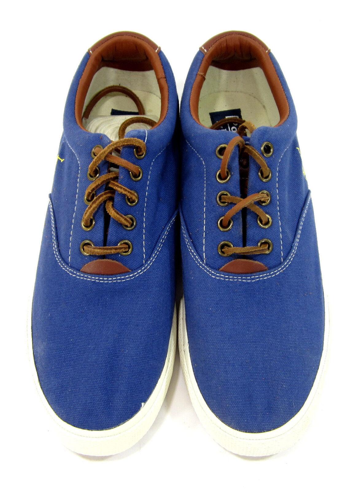 polo ralph lauren e vaughn atletico tela blu scarpe 9,5 taglia delle scarpe 9,5 scarpe 46adbb