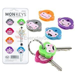Monkey-Cool-Chimp-Key-Cap-Covers-Six-Color-Keychain