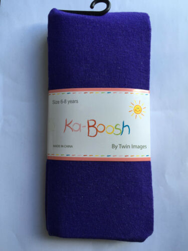 BNWT Ka-Boosh Brand Girls Age 6-8 Years Lovely Purple Thick Footed Style Tights