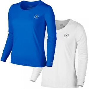 32258162 Hurley Women's Dri-FIT Quick Dry Icon Long Sleeve Surf Tee Rash ...