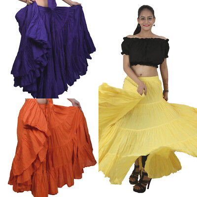 Choose 25 Yard 4 Tier Skirt Belly DANCE EHS Gypsy Skirt Tribal