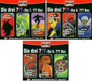 9-CDs-DIE-DREI-FRAGEZEICHEN-FOLGEN-19-27-CD-BOX-7-8-9-SET-NEU-OVP