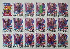 2020/21 Match Attax UEFA Champions League - Barcelona team set (18 cards)