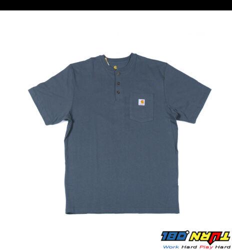 Carhartt K84 Men/'s Henley Pocket T shirt Heavyweight Jersey cotton Top WorkWear