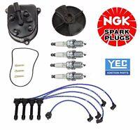 92-93 Honda Accord Lx Dx Ex Cap-rotor-ngk Wires-spark Plug Kit Japan