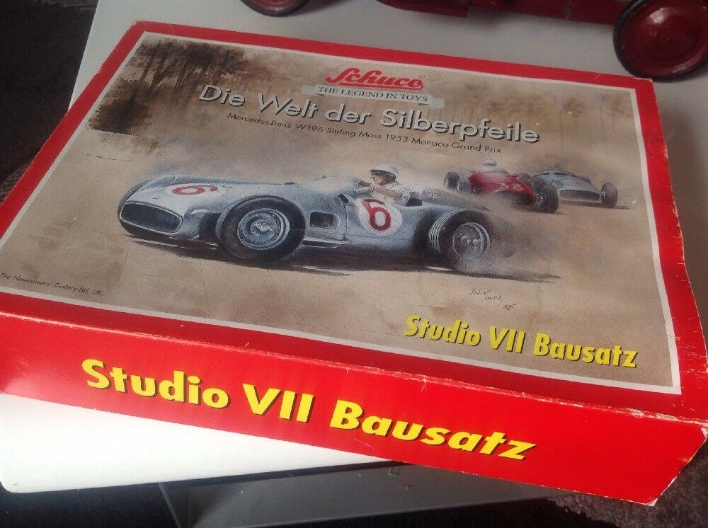 Stirling Moss Mercedes W196, Monaco 1953, Schuco Mint Boxed