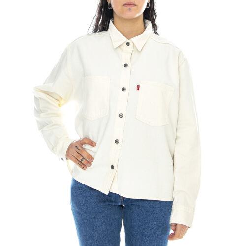 Levis gracie shirt - icy ecru - camicia donna bianca / ecrù beige