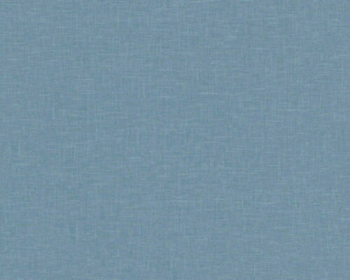 Vliestapete Uni Leinen blau Linen Style AS Creation 36634-8 3,37€//1qm