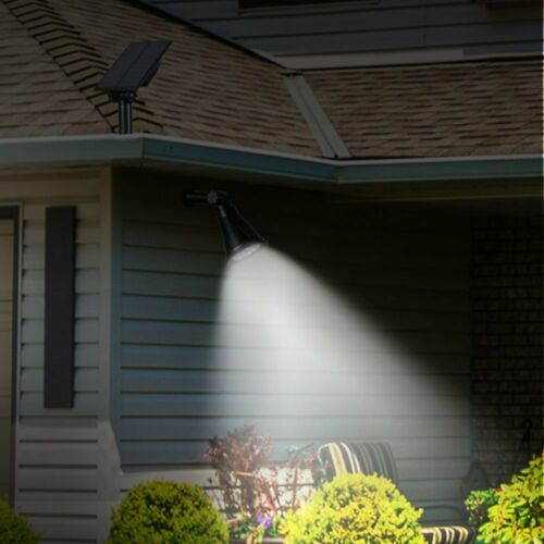 Solar Spotlight Ground LED Light Outdoor Driveways Garden Security Lamp 6000K