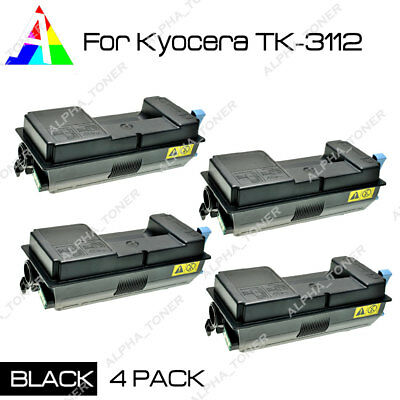 3 PK Black Toner Cartridge for Kyocera Ecosys FS-4100DN FS-4100D TK-3112 TK3112
