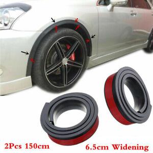 150x 6.5cm Widening Car Wheel Eyebrow Arch Trim Lips Fender Flares Protect Strip