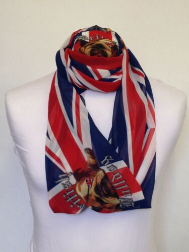 Infinity Scarf Jersey Or Chiffon British Bulldog Unisex Fashion Loop Scarves
