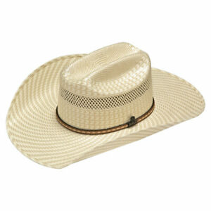 45bb9a194833a Image is loading Ariat-20x-Ivory-amp-Tan-Straw-Western-Hat-