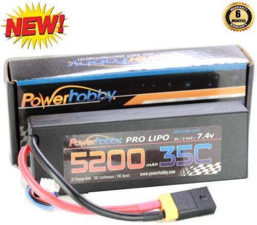 E-Maxx Powerhobby 2s 7.4v 5200mah 35c Lipo Battery W Traxxas Plug Adapter