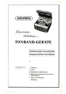 Service Manual-Anleitung für Grundig TK 8